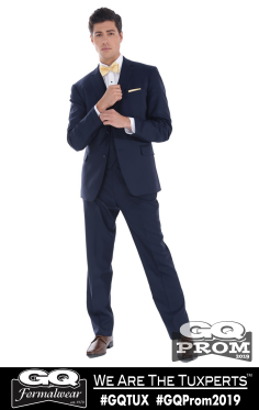 Ike Behar Navy Collins Suit