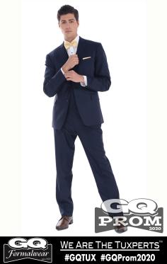 Ike Behar Navy Collins Suit